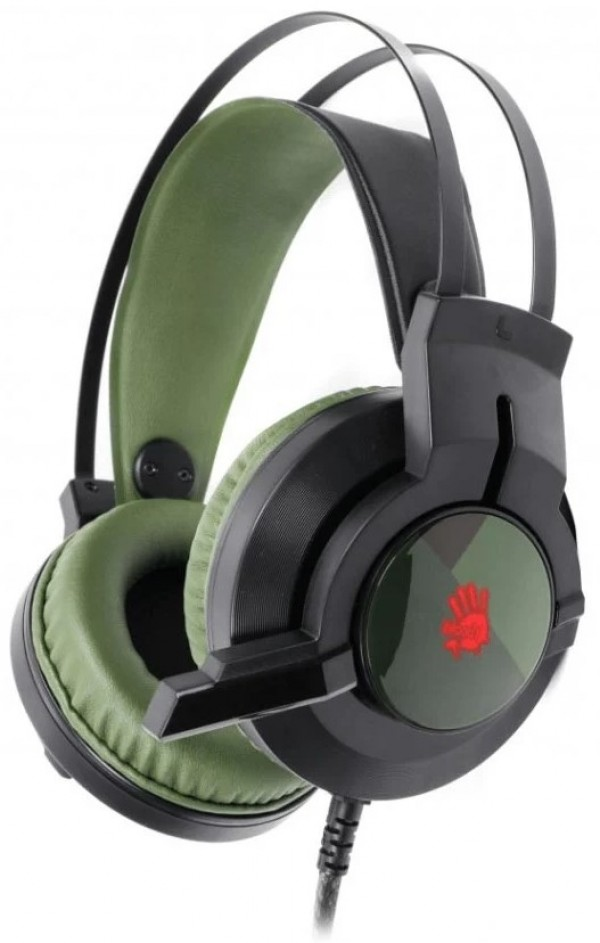 A4-J437 Army Green Bloody gejmerske slusalice sa mikrofonom, 7.1 SURROUND, 40mm/32ohm, USB