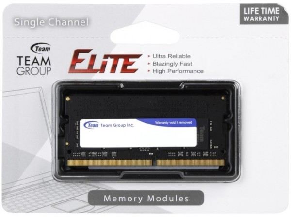 TeamGroup * DDR4 TEAM ELITE SO-DIMM 4GB 2666MHz 1.2V 19-19-19-43 TED44G2666C19-S01 (2099)