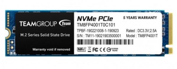TeamGroup * M.2 2280 1TB MP34 SSD PCIe Gen3 x4, NVM Express, 3400/2900MB/s TM8FP4001T0C101 (15500)