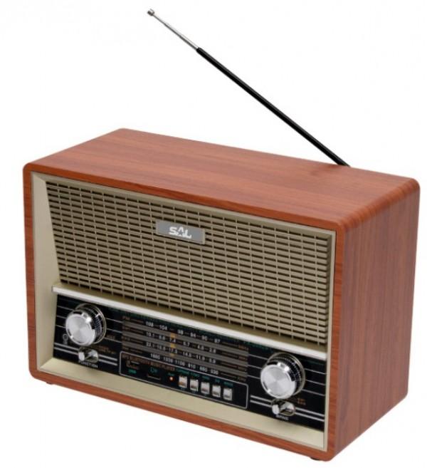 Retro radio prijemnik RRT4B 2x4W, 3,5mm, USB, microSD, Bluetooth
