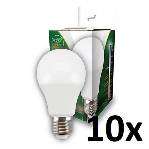 Led sijalica * Lumax ECO LUME27-12W 6500k dnevno svetlo, Cena za pakovanje 10 Sijalica (812)