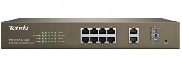 Tenda TEF1210P-8-150W LAN 8-Port 10/100M + 2 1000M +2 SFP Slots Switch