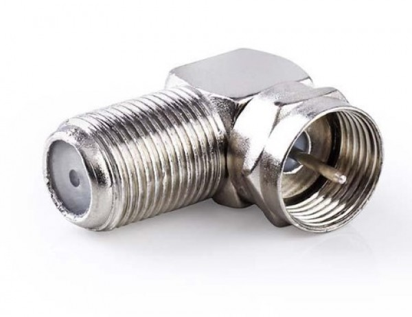 CSGP41942ME F female to IEC male elbow adaptor, Nickel Plated (pakovanje 10kom)