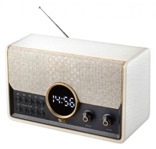 Prenosni retro radio prijemnik RRT5B 2x5W, FM, USB, microSD, Bluetooth, baterija 3000mAh