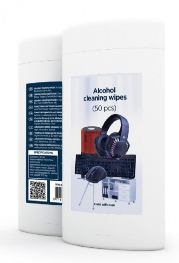CK-AWW50-01 Gembird Alcohol maramice za ciscenje, microfiber 50 kom