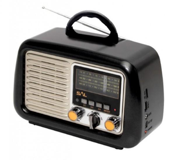 Prenosni retro radio prijemnik RRT2B 3W, FM, USB, microSD, Bluetooth, baterija 1200mAh