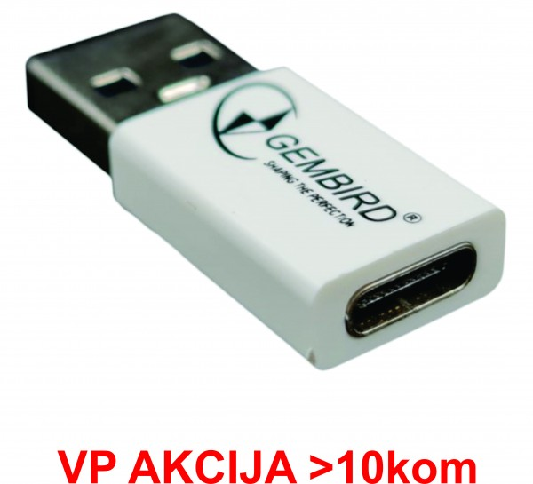 CCP-USB3-AMCM-0M** Gembird USB 3.1 AM to Type-C female adapter cable, White (71)