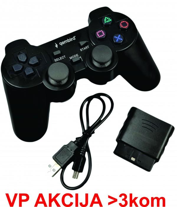 JPD-THRILLERSHOCK 3 ** Gembird Bezicni gamepad sa dvostrukom vibracijom, PS2 / PS3 / PC (719)