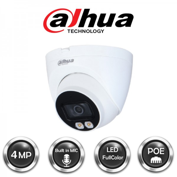 Kamera Dahua IPC-HDW2439T-AS-LED-0280B 4Mpix, 2,8mm, IP kamera, antivandal metalno kuciste