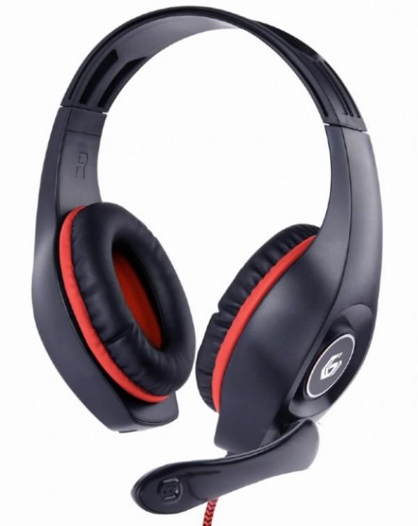 GHS-05-R Gembird Stereo gejmerske slusalice sa mikrofonom+volume kontrolom 3.5mm RED